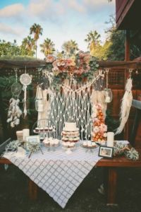 Bohemian Backyard Wedding Chris Wodjak Photography 14-v-266x400